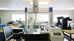 Environmentally controlled inspection lab at INSCO corporation.