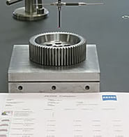 Gear inspection report print out at INSCO Corporation